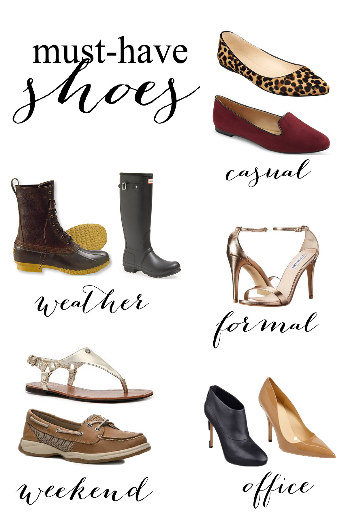 9 Pairs of Shoes Every Woman Should Own